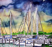Melbourne Florida Boat Marina by derekmccrea