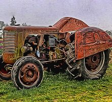 The Old Tractor At The Wooden Shoe by Thom Zehrfeld