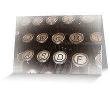 Antique typewriter Greeting Card