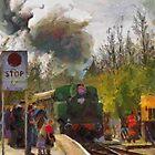 Steam Train 'Karel' Bitton Station by buttonpresser