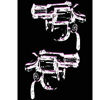 Andy Warhol inspired revolver gun  Photographic Print