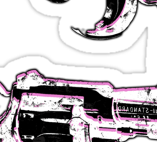 Andy Warhol inspired revolver gun  Sticker