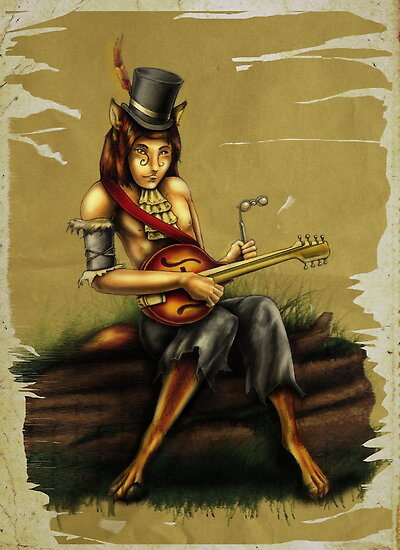 Mandolin Player by Silverblue