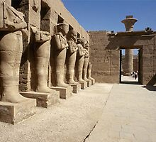 Osiris pillars line a temple dedicated to Ramses II. Dead pharaohs were spiritually linked with Osiris—the God who ruled the Egyptian underworld. by alanalan