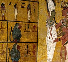 The famous treasures of Tutankhamen' s tomb have been exhibited around the world. But the walls of the boy king's burial chamber remain as they were painted at the time of his death. by alanalan