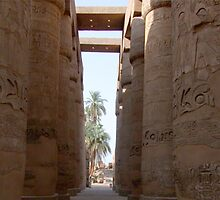 The temple of Amun-Re at Karnak, with its incredible columns, was once the most sacred shrine in Egypt. In the time of the New Kingdom (ca. 1550-1070 B.C.) Amun-Re was considered the king of all gods. by alanalan