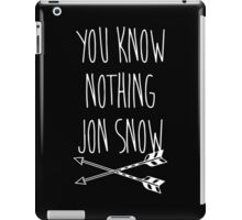 You Know Nothing II iPad Case/Skin