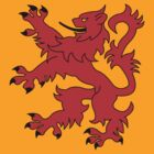 Rampant Lion Red by Iain Macdonald