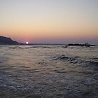Sunset over Crete by jonvin