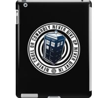 Never Cruel Or Cowardly - Doctor Who - Blue TARDIS iPad Case/Skin