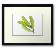 Snow Peas Framed Print