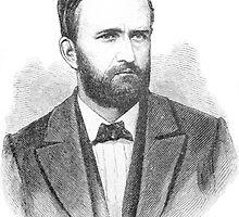 Ulysses S. Grant Illustrative Portrait  by BravuraMedia