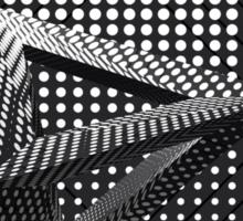 Black & White Triangle Pattern Sticker