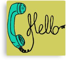 Groovy Hello Phone. Canvas Print