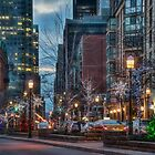 The St. Lawrence Market Area of Toronto at Holiday Time by Gerda Grice