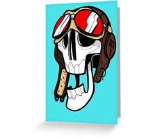 Aviator Skull Greeting Card