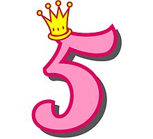 5th birthday princess party theme and gifts by Tee Brain Creative