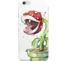 Piranha Plant Watercolor iPhone Case/Skin
