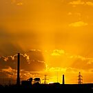 Industrial sunset by brilightning
