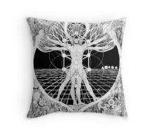 Jon Vitruvian Man Throw Pillow