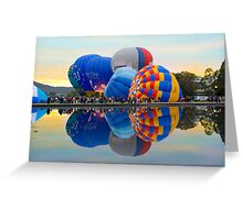 Balloon cluster symmetry Greeting Card