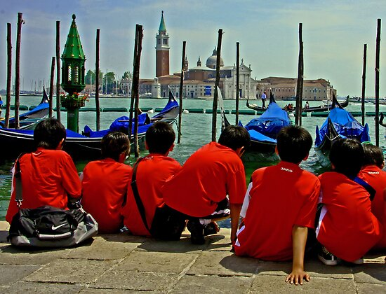 Korean Boys at Venice by jerry  alcantara