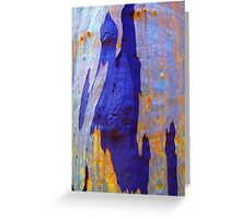 Azure Abstract Greeting Card