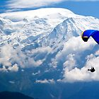 Paraglider, Mont Blanc by parischris