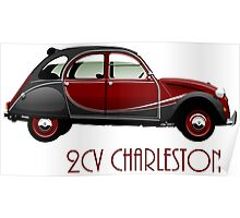 Citroën 2CV Charleston red/black Poster