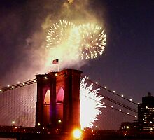 BROOKLYN BRIDGE 125TH ANNIVERSARY by KENDALL EUTEMEY