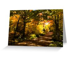 Autumn Road Impressions Greeting Card
