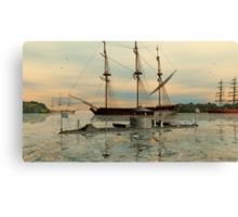 USS Monitor Canvas Print
