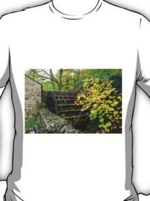 Old Mill and Water Wheel, Miller's Dale T-Shirt