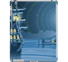 Nocturnal Adventure Island with Pirate Galleon Anchored iPad Case/Skin