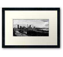 Perth Cityscape Panoramic Framed Print