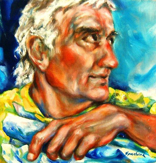Detail: Portrait of Frederick L. Gregory by Barbara Sparhawk