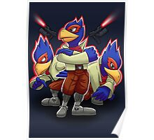 Falco Victory Pose T-Shirt Poster