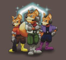 Fox Victory Pose T-Shirt  by Skytch