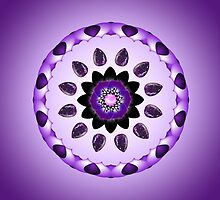 Purple Flower Mandala Kaleidoscope by TigerLynx