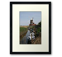 River Glaven and Cley Windmill  Framed Print