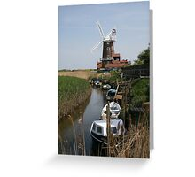 River Glaven and Cley Windmill  Greeting Card