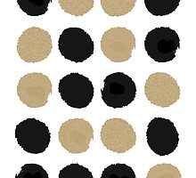 Sadie - Modern gold and black abstract brushstroke art glitter sparkle gifts for trendy gender neutral design by charlottewinter