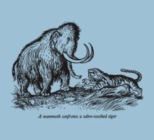 Mammoth confronts a sabre-toothed tiger by awcomix