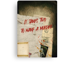 Murder Board Canvas Print