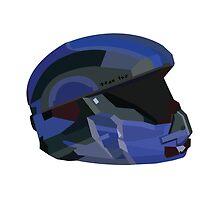 Halo 5 Recruit Helmet by Harry McSwain