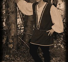 Elizabethan Player in Sepia by David Chappell