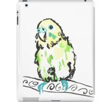Watercolour budgie iPad Case/Skin