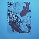 fish in blue by Leanne Inwood