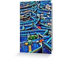 Sea of Boats Greeting Card