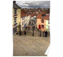 View from the Whitby Steps Poster